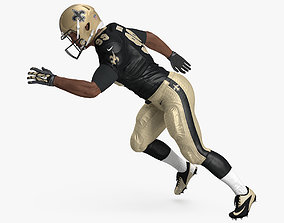 3D New Orleans Saints American Football Player Rigged