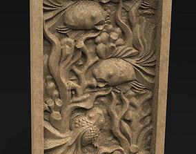 Decorative Panel Fish 3D Model
