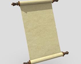 3D model Paper Scroll 2