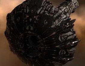 3D asset Titan spacecraft