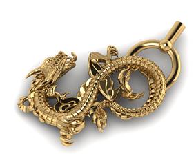 3D printable model dragon jewelry print