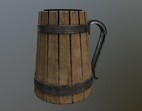 3D model low-poly Beer mug