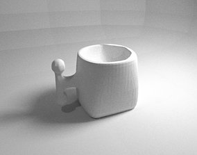 round square cup 3D print model