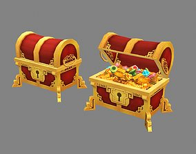 3D asset Cartoon Chinese Treasure Chest