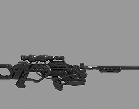 3D army Sci fi gun