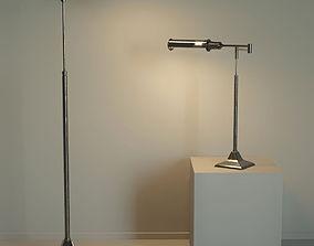 3D model Floor lamp and table lamp in loft style Kingston