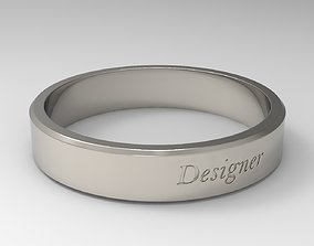 Designer Ring Platinum 3D printable model