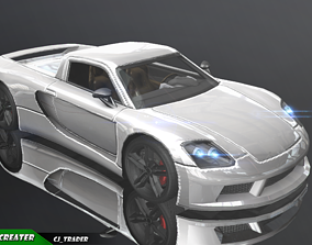 VR / AR ready Lowpoly Porsche Carrera GT Car Racing 3D