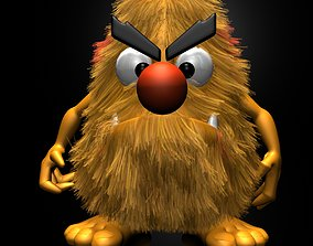 Hairy Monster Rigged 3D asset