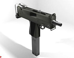 Submachine Gun - Mac11 3D model