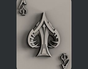 aceof 3d STL models for CNC ace of spades