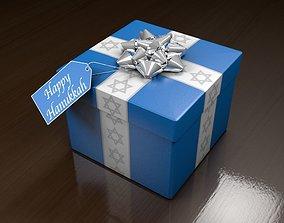 3D asset Hanukkah Gift Box