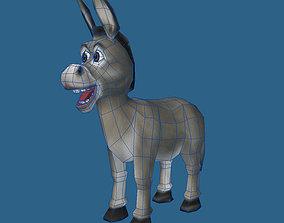 Cartoon of donkey 3D model