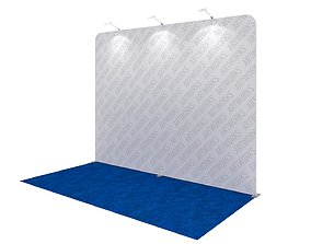 Exhibition booth 10x5ft straight wall 3DM007