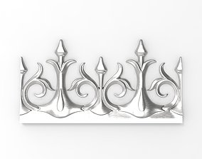 Decor friezes with flower and leaf HD model for CNC or 1