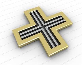 3D model game-ready Cross jewelry