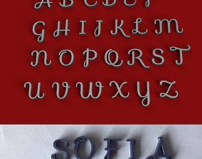 SOFIA uppercase and lowercase 3D Letters STL FILE