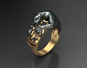pantera Panthera Ring Cartier 3D Print Model