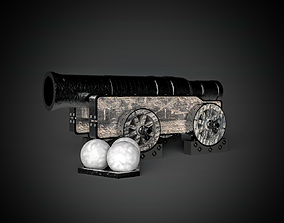 Edinburgh castle cannon scotland 3D print model