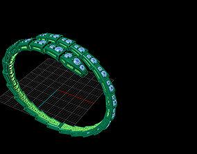 solid bracelet 3D print model