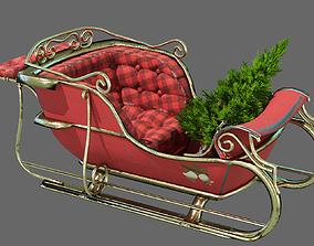 3D asset Christmas sleigh
