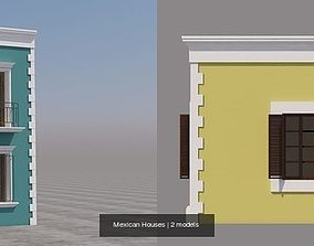 3D model Mexican Houses