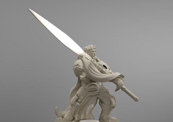 Champion of the Order 32mm Wargaming Elite Miniature Sample