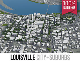 3D model Louisville - city and surroundings