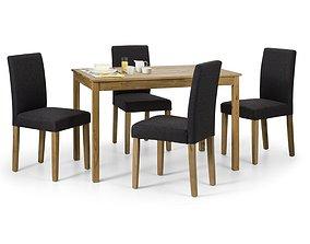 3D Lanford 5 - Piece Solid Oak Dining Set