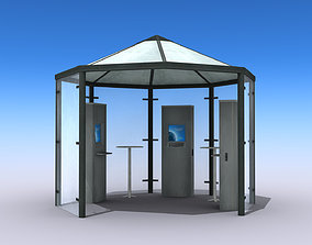 3D asset Multimedia Kiosk - Low Poly