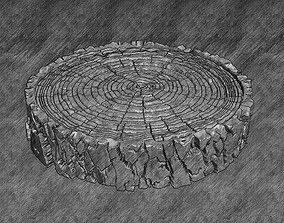 Oak trunk cut Tree decor 3D print model