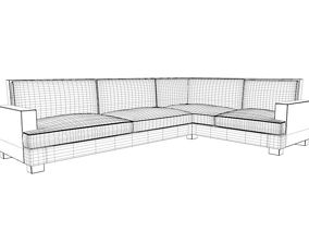 Vita Lounge Sofa - L 3D model