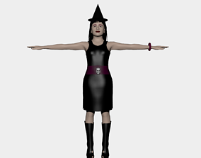 3D MAGIC YOUNG BLACK WITCH