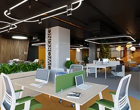 3D model coworking space