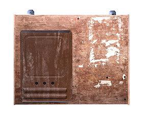 Mailbox on bulletin board 3D asset