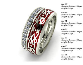 3D printable model 7 Arabic style rings with diamonds 4