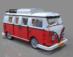 poly Lego car 3D model