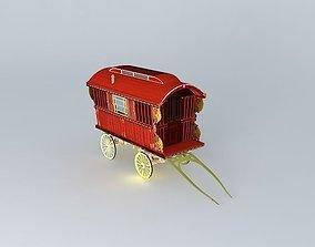 3D Burton SHOWMANS Wagon Amended