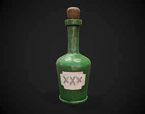 Stylized Bottle 3D asset