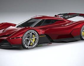 Alfa Romeo 8C-R Tazio 2020 LowPoly 3D model