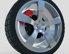 Car Wheel 3D model caliper