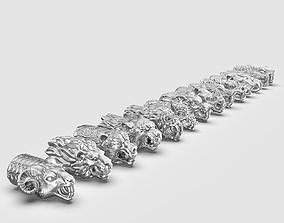 3D print model End pieces for bracelets 3 mm