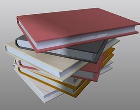 Set of stacked Books 3D print model