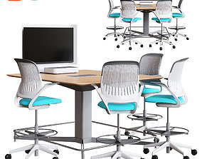 Steelcase - Media Scape Mini and Rectangle Table 3D model