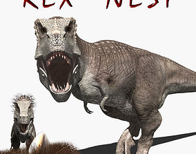 animated Rex nest - 3d model