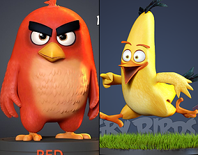 3D printable model Angry Birds 2 - Red and Chuck