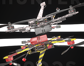 Hunter and Scout quadrocopter 3D model