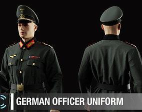 German officers uniform Marvelous Designer and 3D model 1