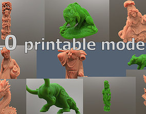 Pack of printable models sculptures and