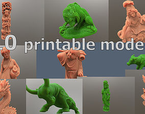 Pack of printable models sculptures and statues